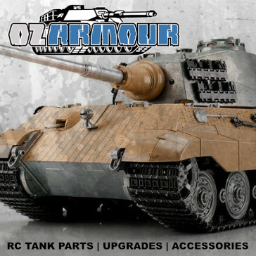 OzArmour 1/16 RC Tanks Parts Upgrades
